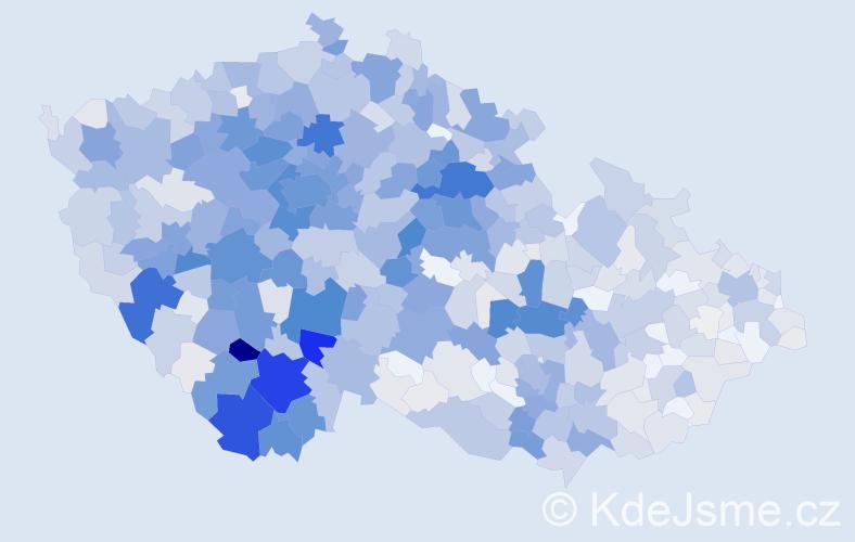 Příjmení: 'Čížková', počet výskytů 3926 v celé ČR