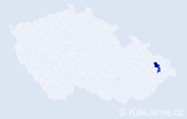 Příjmení: 'Hasser', počet výskytů 2 v celé ČR