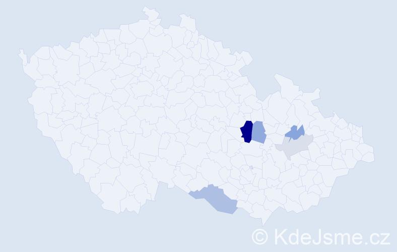 Příjmení: 'Czehowská', počet výskytů 11 v celé ČR