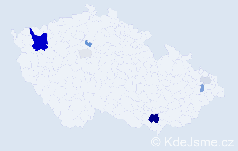 Příjmení: 'Gratzl', počet výskytů 14 v celé ČR