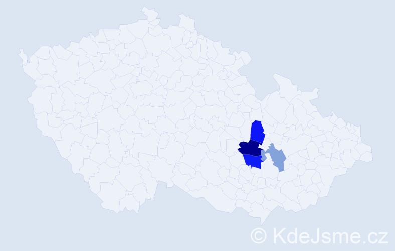 Příjmení: 'Elisková', počet výskytů 13 v celé ČR