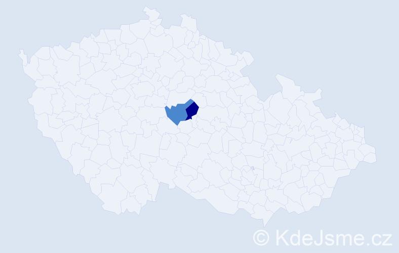 """Příjmení: '""""El Azazy""""', počet výskytů 6 v celé ČR"""