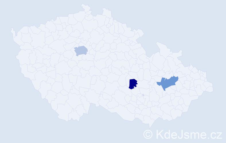 Příjmení: 'Domjen', počet výskytů 7 v celé ČR