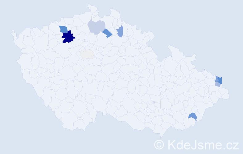 Příjmení: 'Gore', počet výskytů 26 v celé ČR