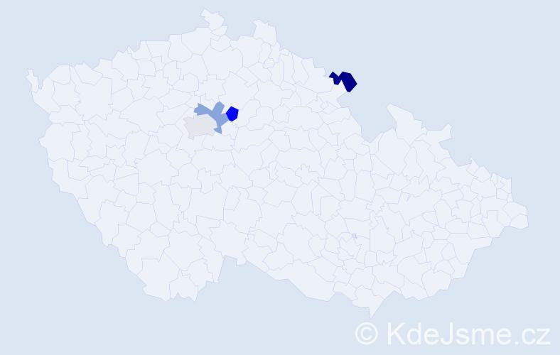 Příjmení: 'Effenbergová', počet výskytů 8 v celé ČR