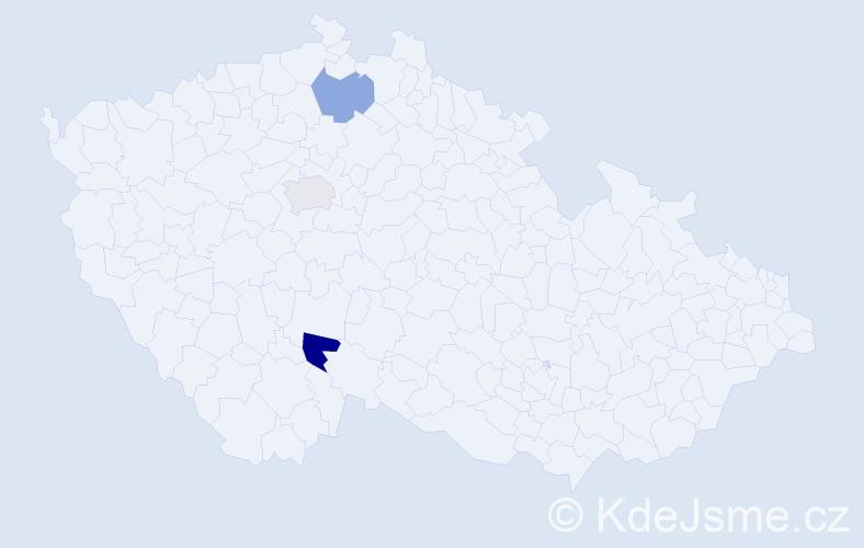Příjmení: 'Hamaj', počet výskytů 7 v celé ČR