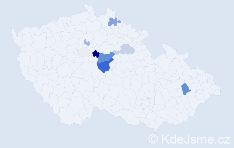 Příjmení: 'Hollas', počet výskytů 28 v celé ČR