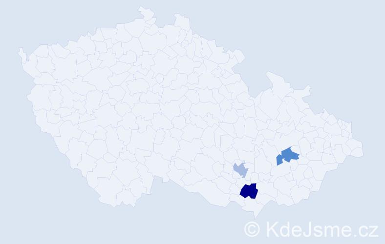 Příjmení: 'Fabianno', počet výskytů 3 v celé ČR
