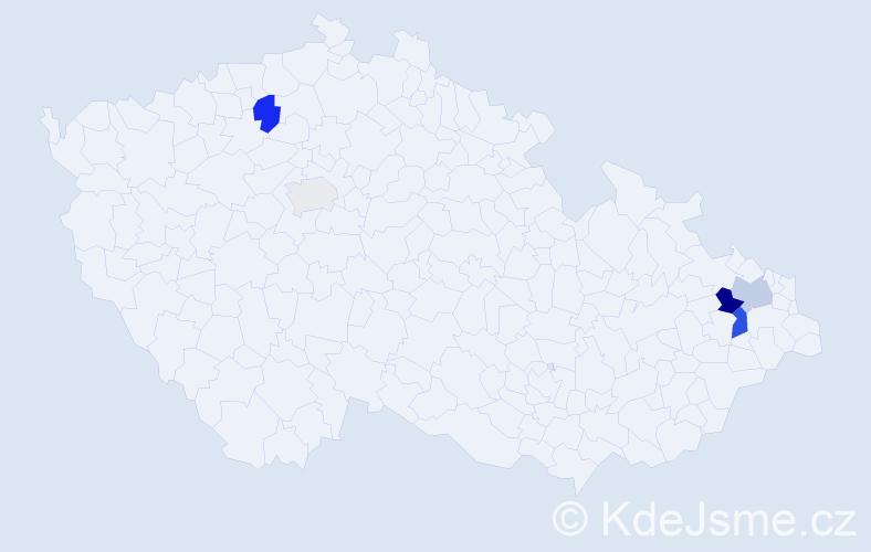 Příjmení: 'Gans', počet výskytů 16 v celé ČR