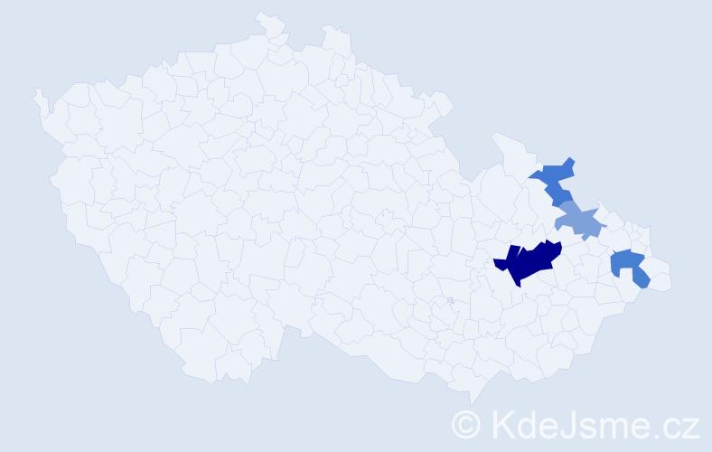 Příjmení: 'Ignasová', počet výskytů 9 v celé ČR