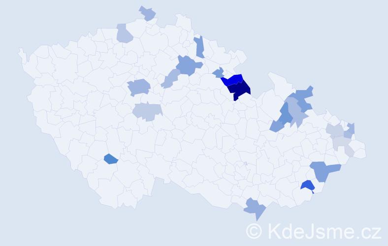 Příjmení: 'Korman', počet výskytů 59 v celé ČR