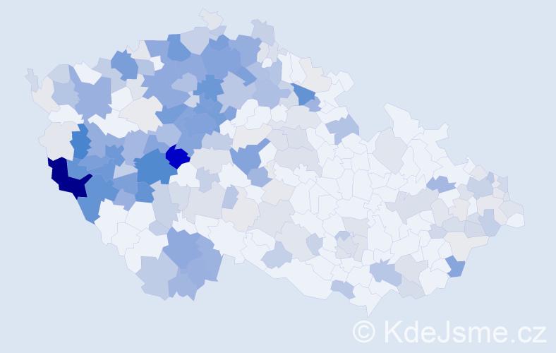 Příjmení: 'Kaiser', počet výskytů 875 v celé ČR