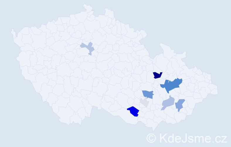 Příjmení: 'Absatzová', počet výskytů 17 v celé ČR