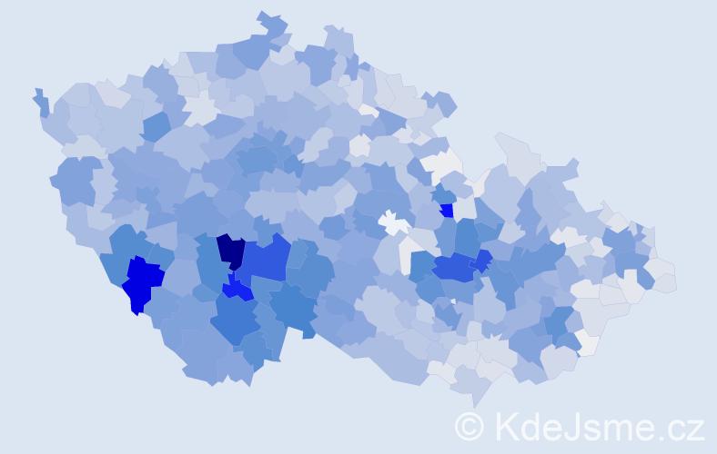 Příjmení: 'Kolářová', počet výskytů 8736 v celé ČR
