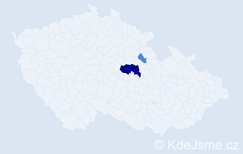 Příjmení: 'Kašperanová', počet výskytů 7 v celé ČR