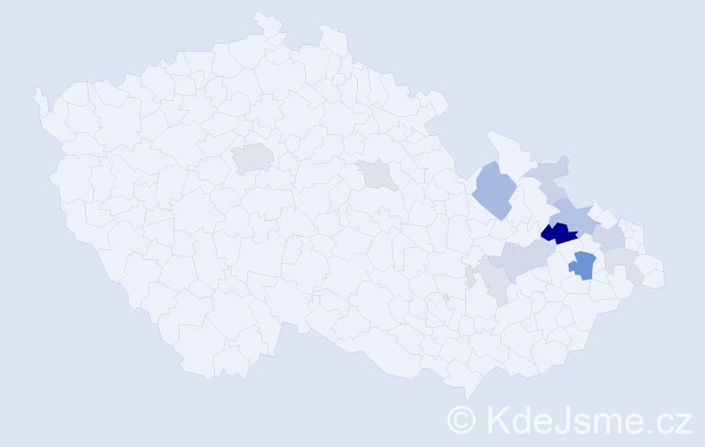 Příjmení: 'Ehler', počet výskytů 31 v celé ČR