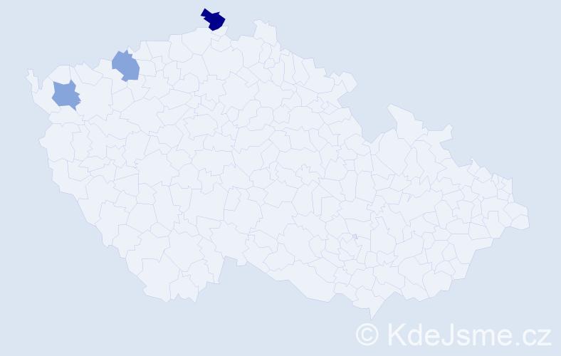 Příjmení: 'Gočíková', počet výskytů 4 v celé ČR