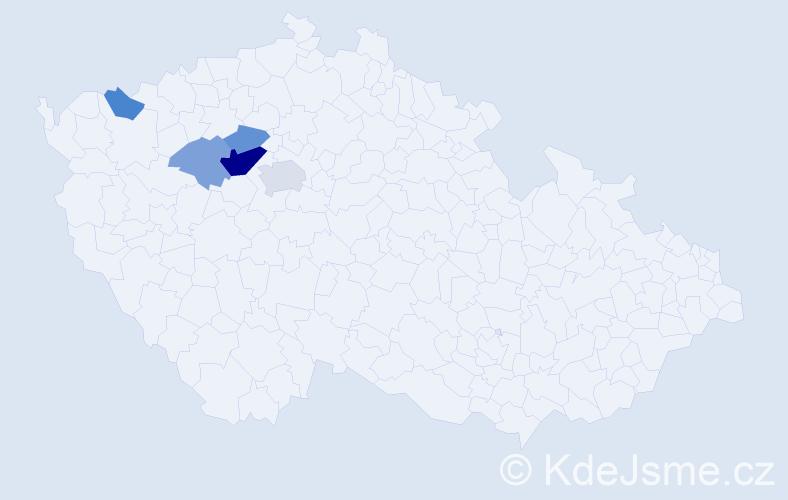 Příjmení: 'Eisenstein', počet výskytů 11 v celé ČR