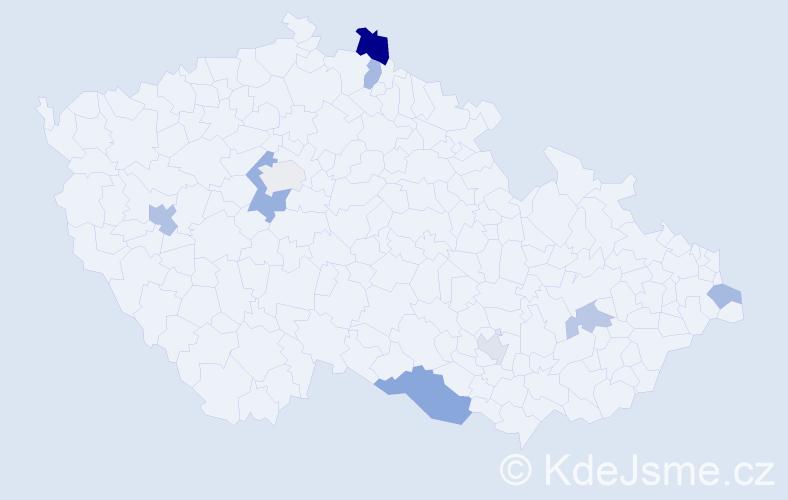 Příjmení: 'Lepiš', počet výskytů 14 v celé ČR