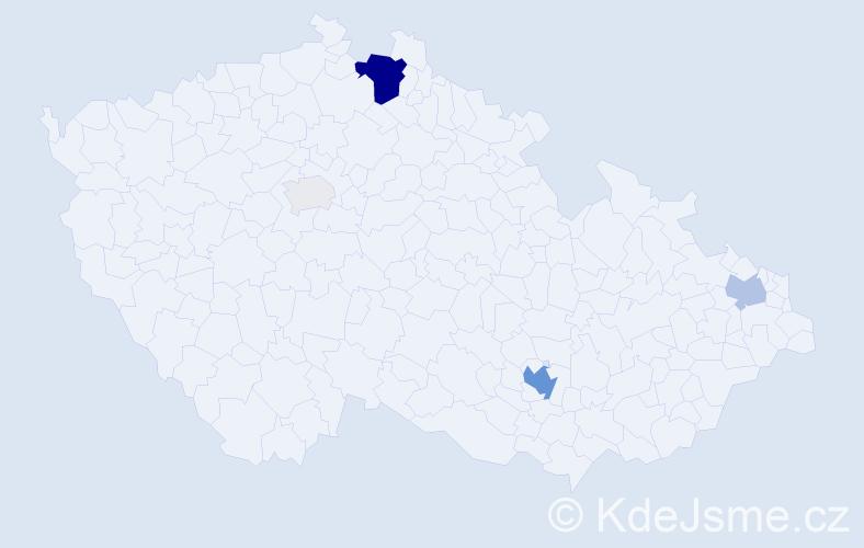 Příjmení: 'Gerö', počet výskytů 18 v celé ČR