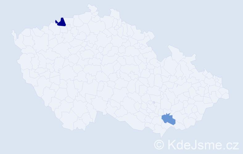 Příjmení: 'Gründling', počet výskytů 3 v celé ČR