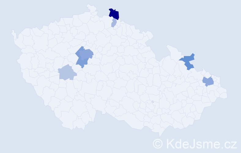 Příjmení: 'Kim', počet výskytů 32 v celé ČR