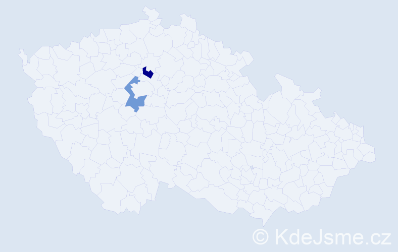 Příjmení: 'Chodějovský', počet výskytů 2 v celé ČR