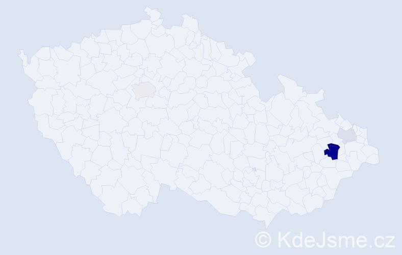 Příjmení: 'Erleová', počet výskytů 7 v celé ČR