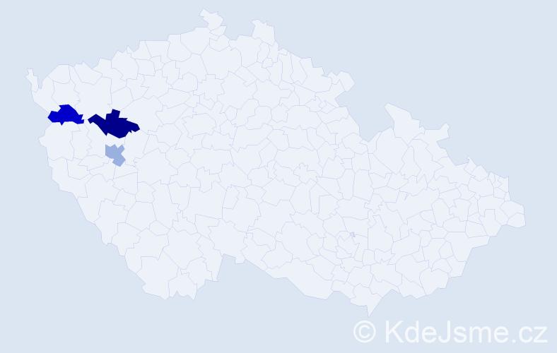 Příjmení: 'Davydjuk', počet výskytů 3 v celé ČR