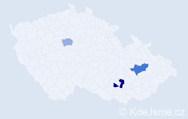 Příjmení: 'Anzenbacher', počet výskytů 4 v celé ČR