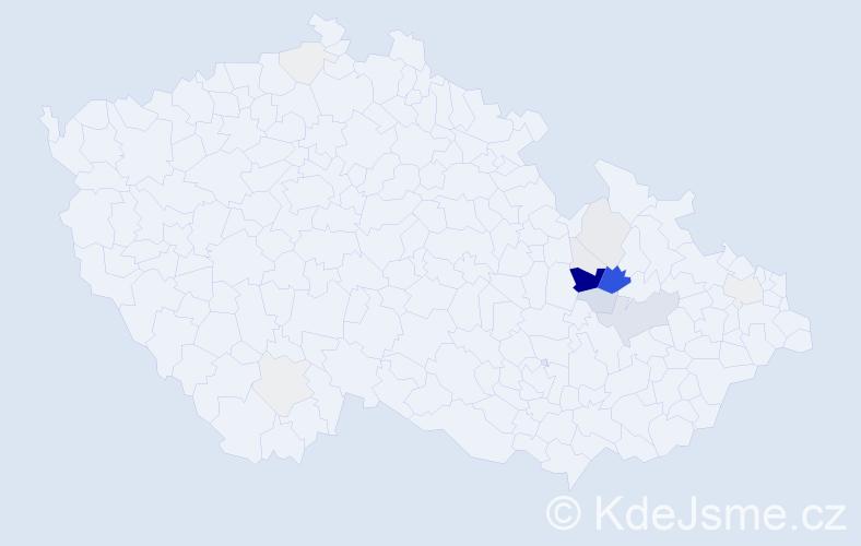 Příjmení: 'Jořenková', počet výskytů 64 v celé ČR