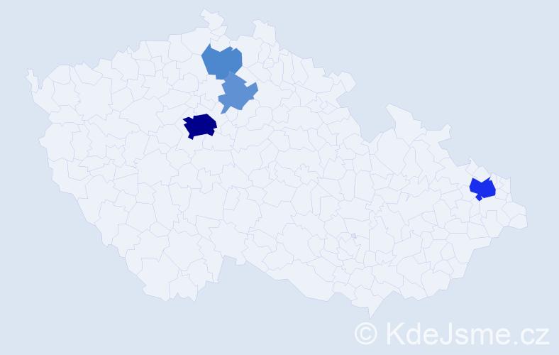 Příjmení: 'Lubovská', počet výskytů 25 v celé ČR