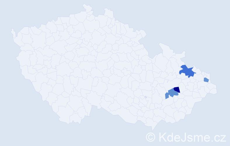 Příjmení: 'Glosmanová', počet výskytů 8 v celé ČR