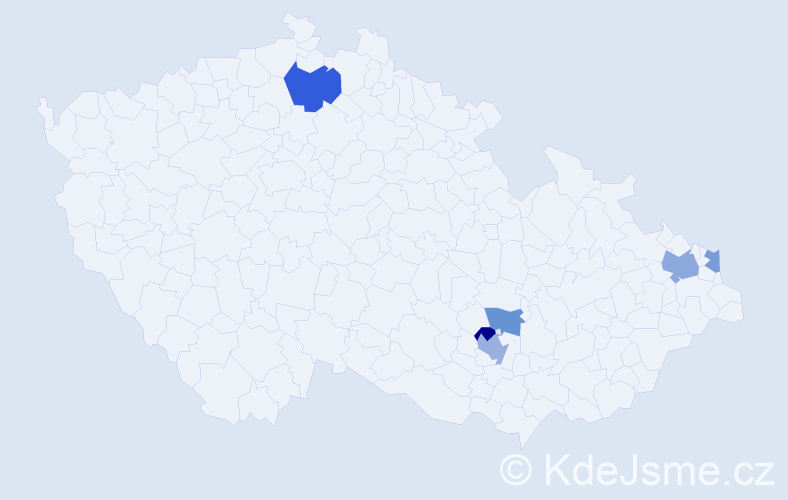 Příjmení: 'Grobarčík', počet výskytů 9 v celé ČR