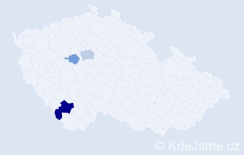 Příjmení: 'Csiriková', počet výskytů 7 v celé ČR