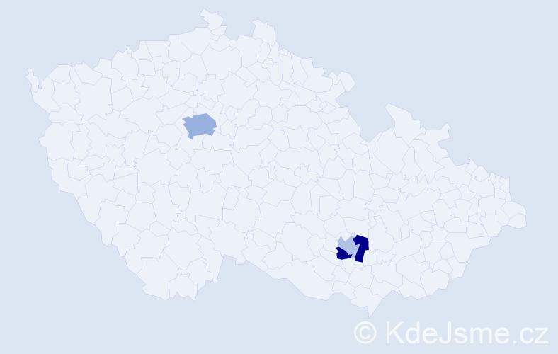 Příjmení: 'Članěk', počet výskytů 7 v celé ČR