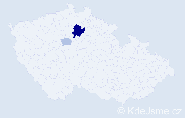 Příjmení: 'Kepp', počet výskytů 2 v celé ČR