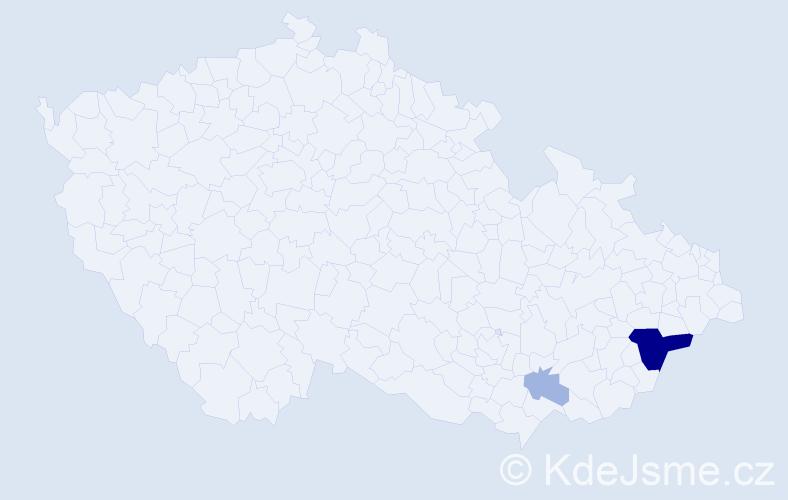 Příjmení: 'Išpold', počet výskytů 8 v celé ČR
