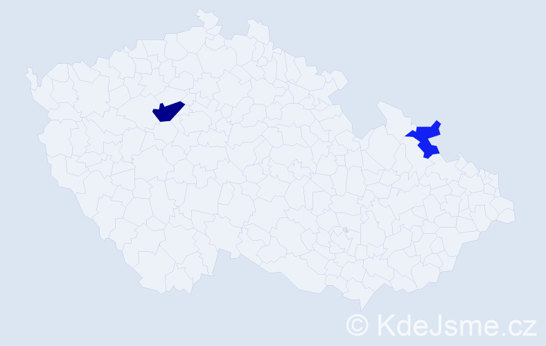 Příjmení: 'Gaďůrková', počet výskytů 4 v celé ČR