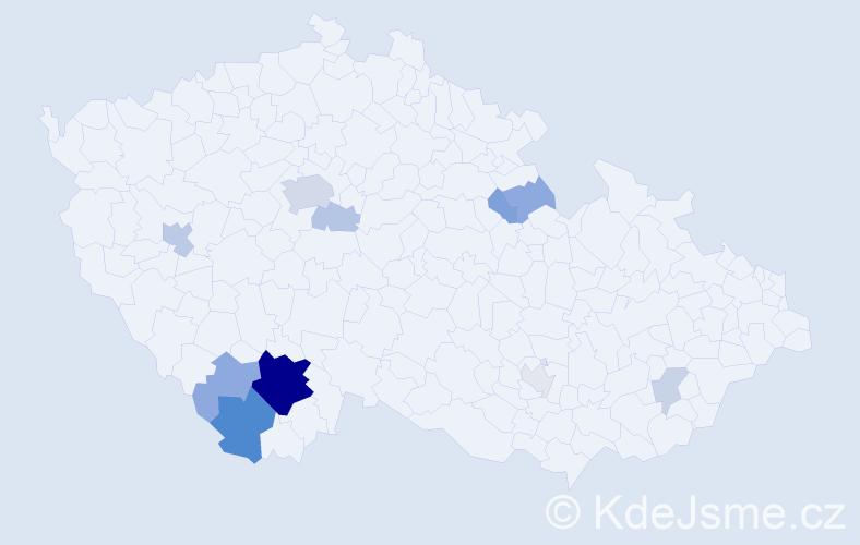 Příjmení: 'Ferebauerová', počet výskytů 33 v celé ČR