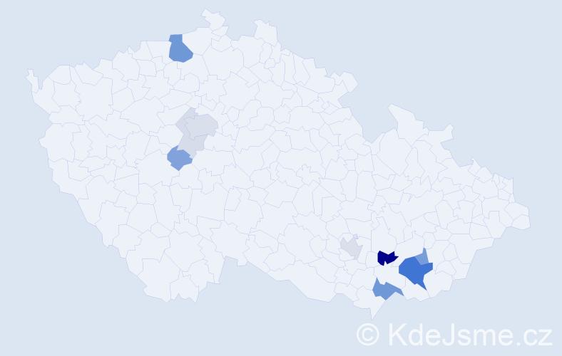 Příjmení: 'Kremr', počet výskytů 33 v celé ČR