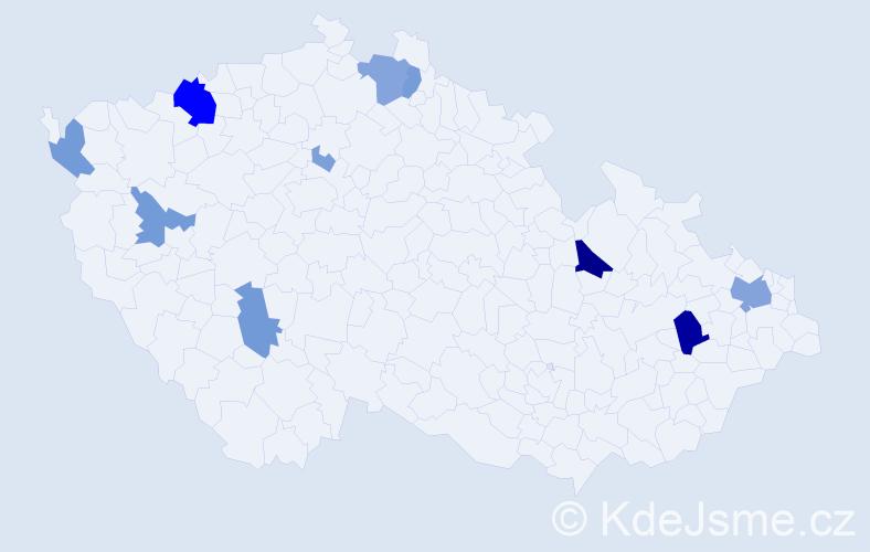 Příjmení: 'Compelová', počet výskytů 33 v celé ČR