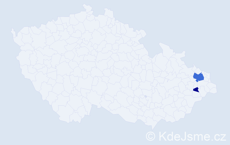 Příjmení: 'Gavar', počet výskytů 7 v celé ČR