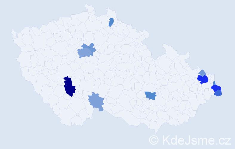 Příjmení: 'Gawlik', počet výskytů 41 v celé ČR