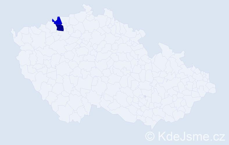 Příjmení: 'Činoveská', počet výskytů 6 v celé ČR
