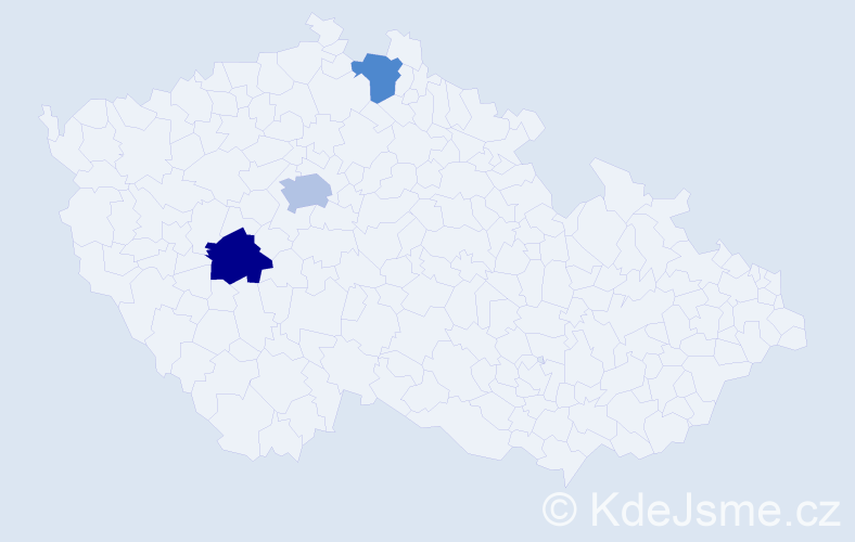 Příjmení: 'Blajer', počet výskytů 12 v celé ČR