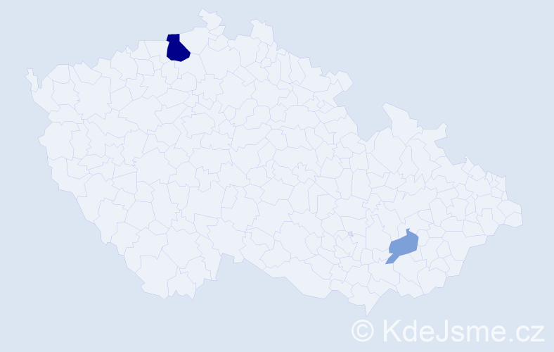 Příjmení: 'Apoleník', počet výskytů 6 v celé ČR