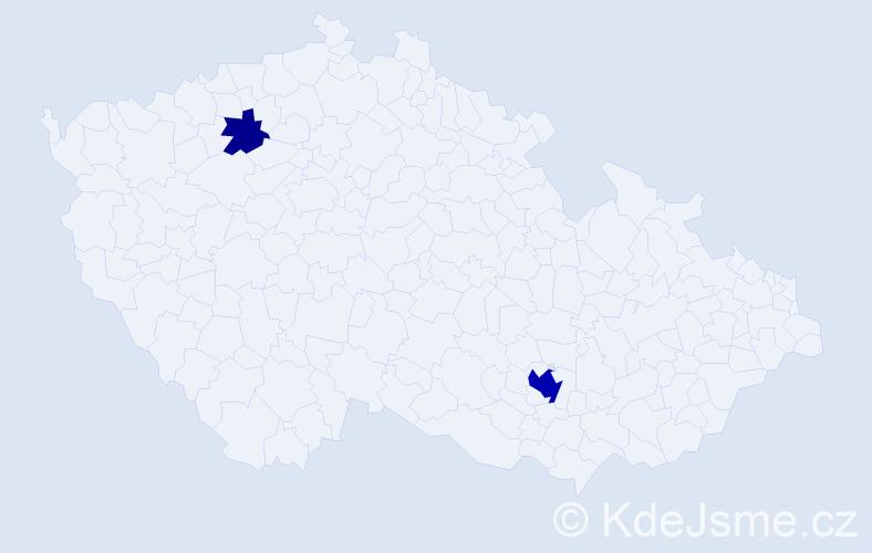 Příjmení: 'Komlóssy', počet výskytů 6 v celé ČR