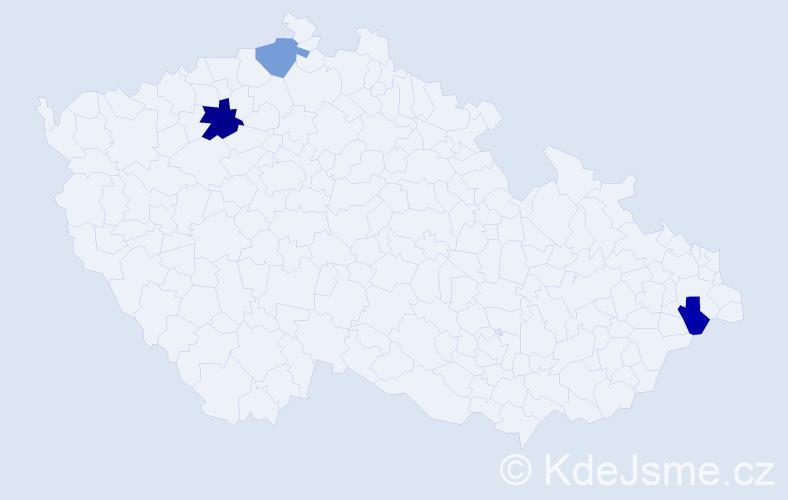 Příjmení: 'Jedrzejasová', počet výskytů 4 v celé ČR