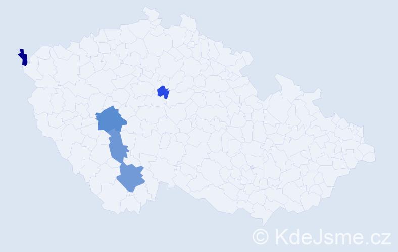 Příjmení: 'Robausch', počet výskytů 19 v celé ČR